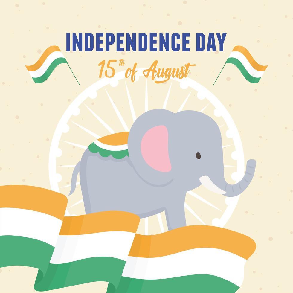 bandeira da independência da índia vetor
