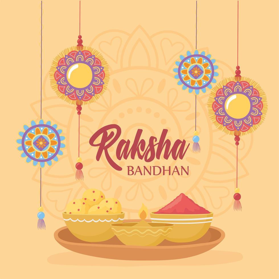 celebração raksha bandhan indiana vetor