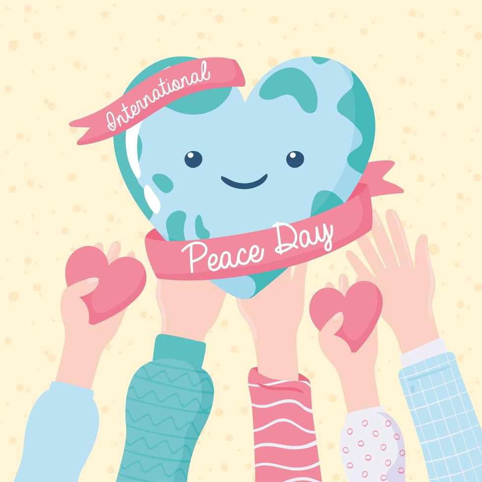 dia internacional da paz vetor