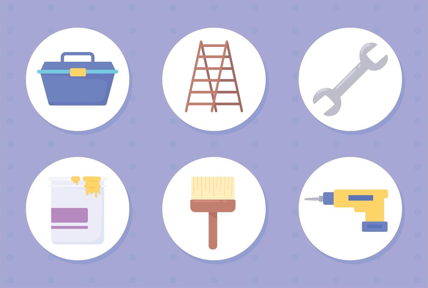 ferramentas de construção e melhoria da casa vetor