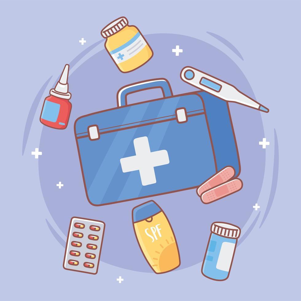 kit de equipamento médico vetor