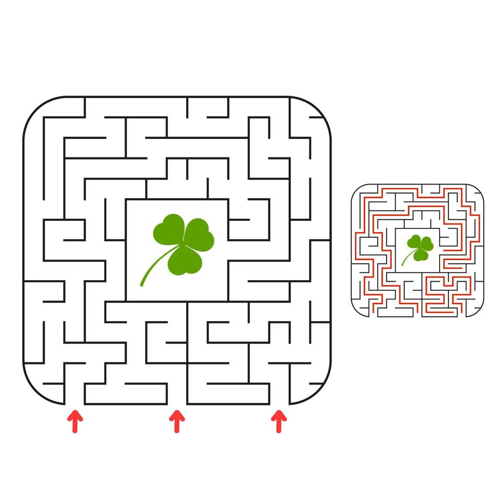 labirinto abstact. jogo para crianças. quebra-cabeça para crianças. enigma do labirinto. ilustração vetorial. vetor
