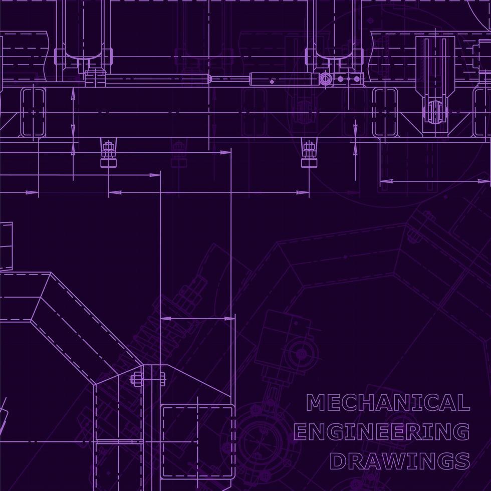 planta, esboço. ilustração de engenharia vetorial vetor