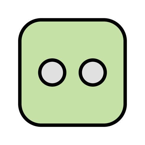 Dados, dois, vetorial, ícone vetor