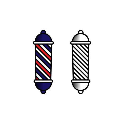 Inspiração de Design de logotipo de barbeiro vetor