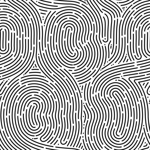 Monocromático doodle abstrato sem costura com linha de traço. vetor