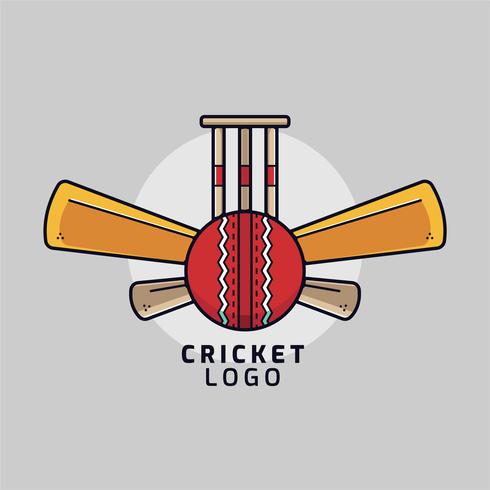 vetor de logotipo de esportes de críquete