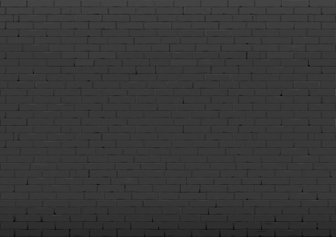 Fundo com uma parede de tijolo preto velho. Interior em estilo loft. Gráficos vetoriais vetor
