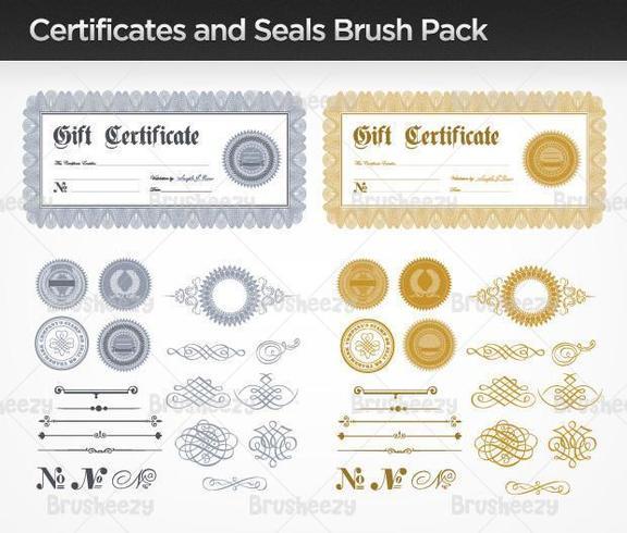 Pacote de vetores de certificados e selos