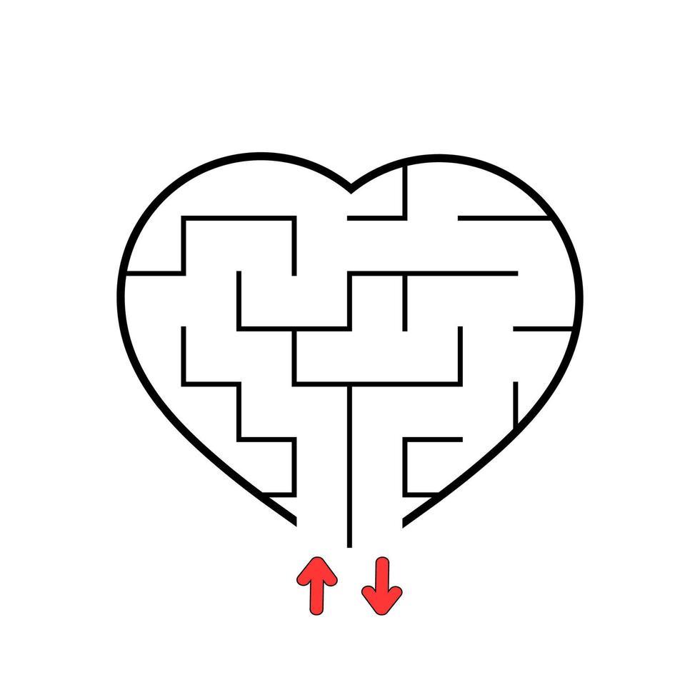 labirinto abstact. jogo educativo para crianças. quebra-cabeça para crianças. enigma do labirinto. encontre o caminho certo. ilustração vetorial. vetor