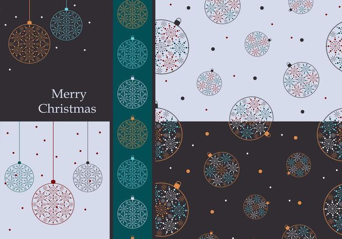 Pacote colorido de papel de parede de ornamentos de Natal vetor