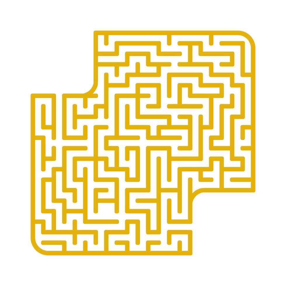 labirinto abstact. jogo para crianças. quebra-cabeça para crianças. enigma do labirinto. encontre o caminho certo. ilustração do vetor de cor.