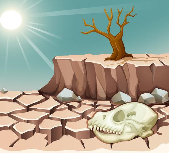 Desastre natural com a seca vetor