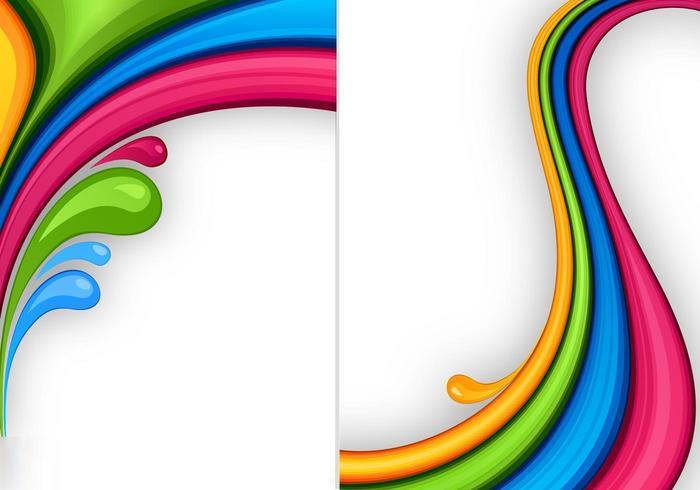 Pacote de papel de parede de cores splash três vetor