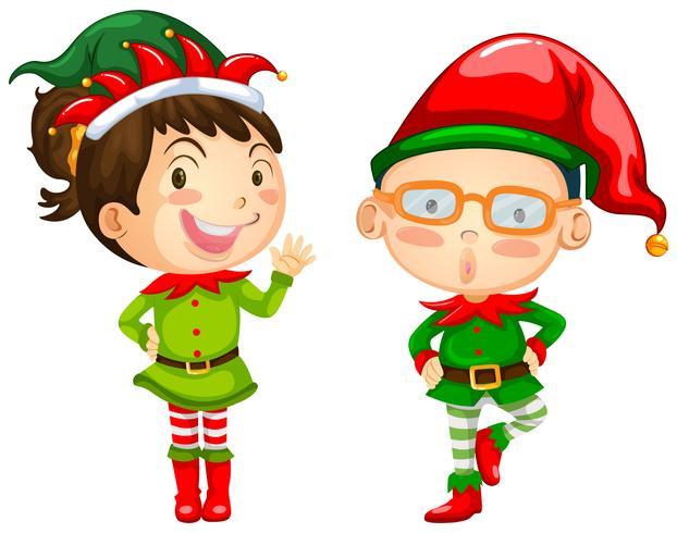Tema De Natal Com Dois Elfos Download Vetores Gratis Desenhos De Vetor Modelos E Clipart