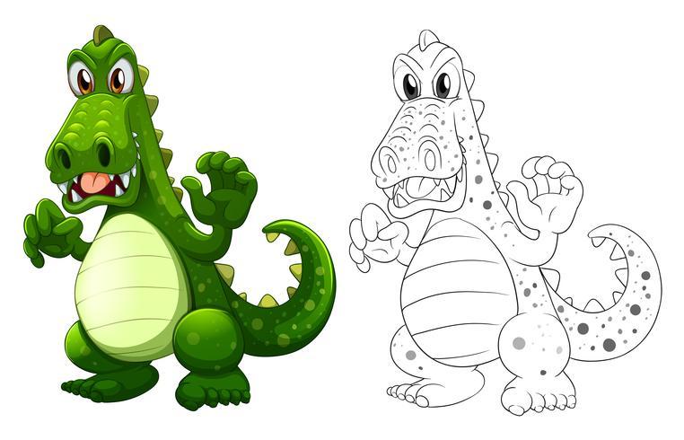 Doodles esboçar animal para dragão vetor