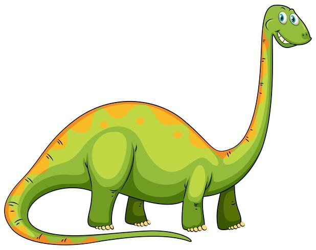 Dinossauro verde com pescoço comprido vetor