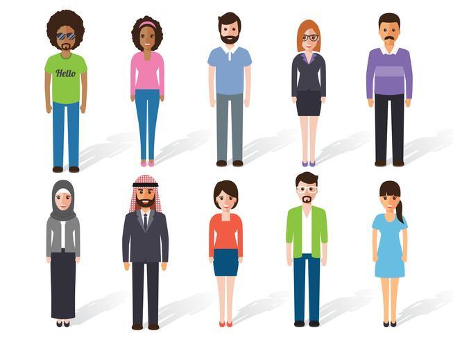 Personagens de pessoas vetor