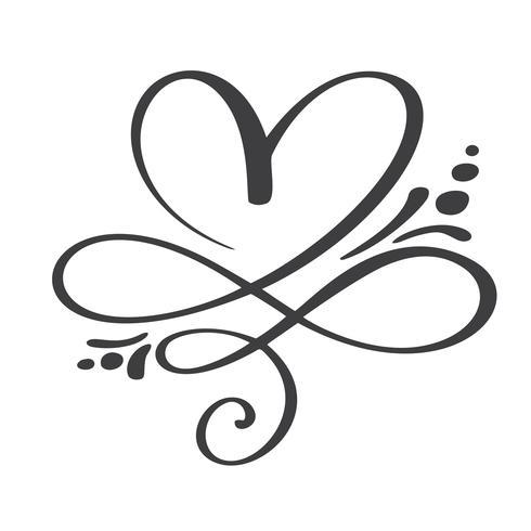 Coração amor assinar para sempre. Infinito símbolo romântico ligado, juntar, paixão e casamento. Modelo para t-shirt, cartão, cartaz. Elemento plano de design do dia dos namorados. Ilustração vetorial vetor