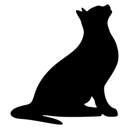 Ilustração em vetor silhueta gato