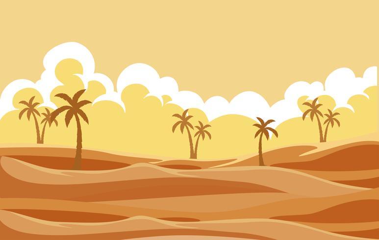 Uma paisagem seca do deserto vetor