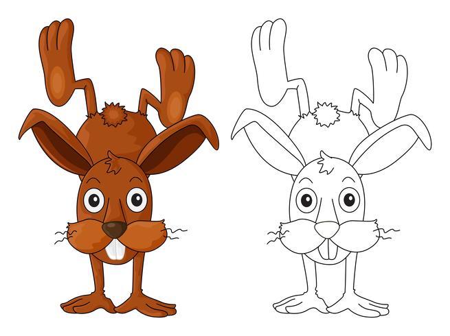 Doodles esboçar animal para coelho cute vetor