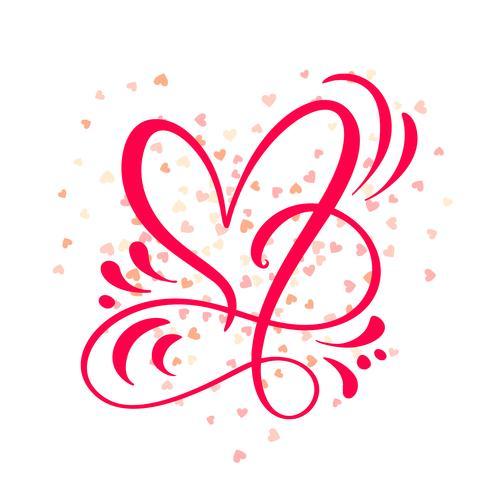 Ilustração do vetor do sinal do amor do coração. Símbolo romântico ligado, juntar-se, paixão e casamento. Elemento plano de design do dia dos namorados. Modelo para t-shirt, cartão, poster