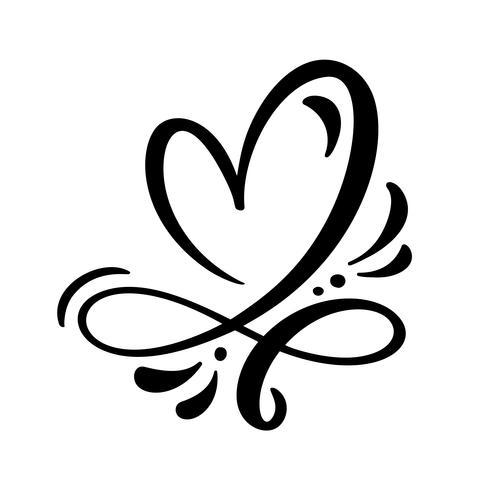 Coração, amor, sinal, vetorial, ilustração vetor