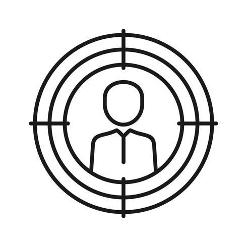 Ícones de linha de Marketing de alvo de SEO vetor