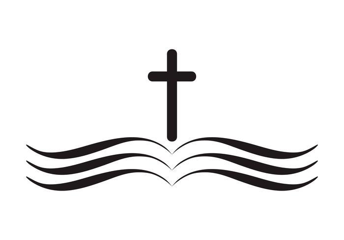 Vetorial, ilustração, de, cristão, logotipo vetor