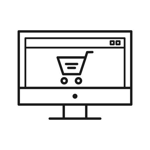 Ícone de linha de marketing SEO vetor