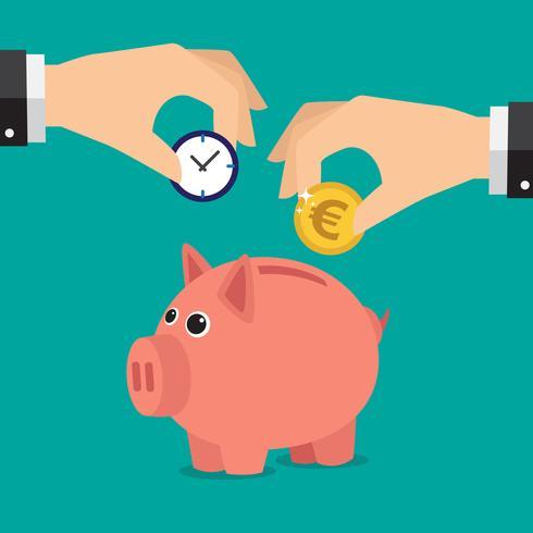 Euro do banco Piggy vetor