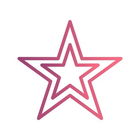Ícone de vetor de estrela