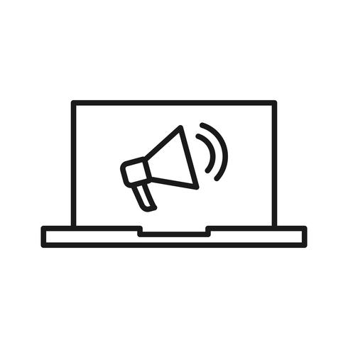 Ícones de linha de Marketing Digital SEO vetor
