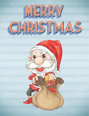 Poster retro natal vetor