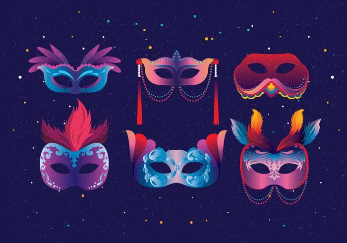 máscaras de carnevale di venezia vetor