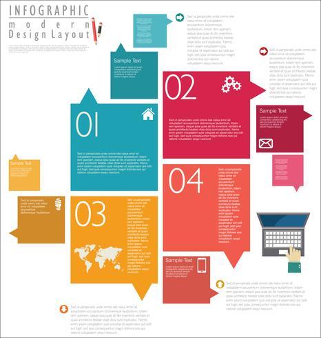 Modelo de design moderno infográfico vetor