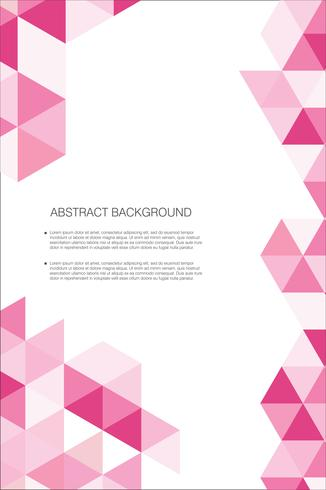 Modelo de plano de fundo abstrato desenho geométrico vetor