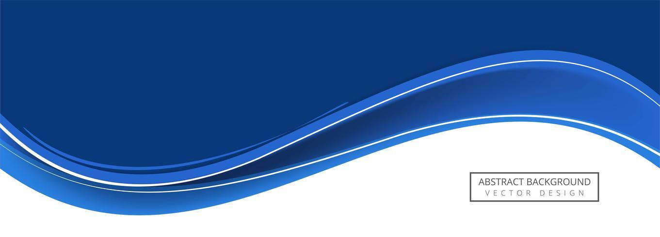 Design de bandeira de onda azul abstrato vetor