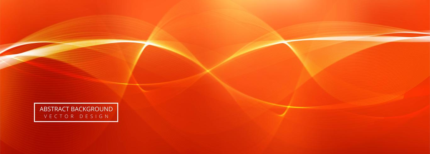 Design de modelo de banner de onda abstrata vetor
