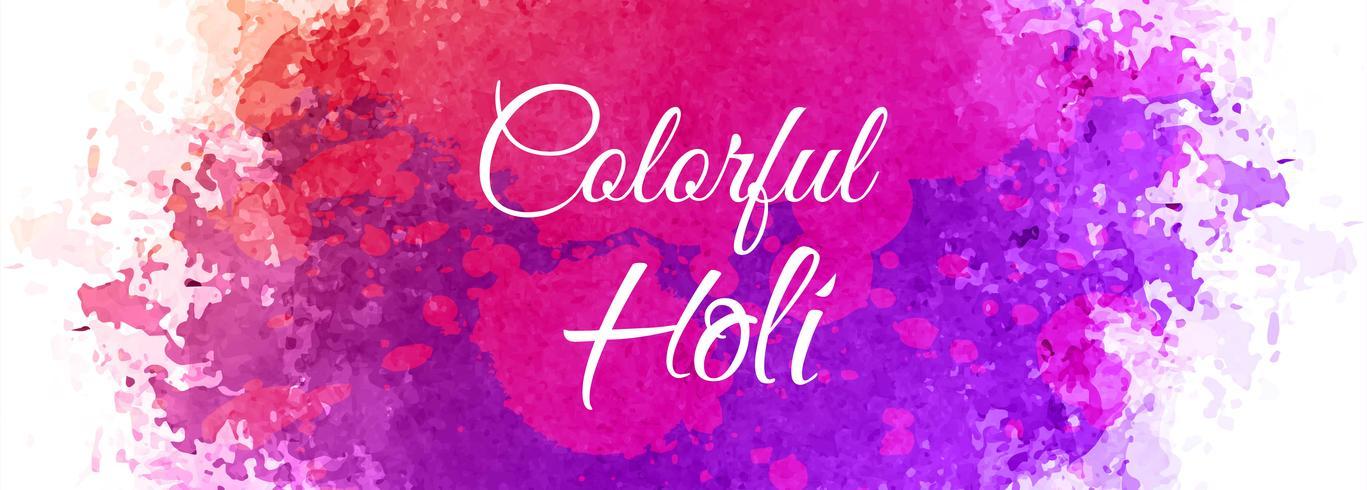 Feliz, holi, festival, coloridos, bandeira, fundo vetor