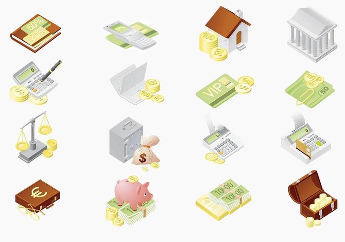Pacote de vetores de ícones financeiros