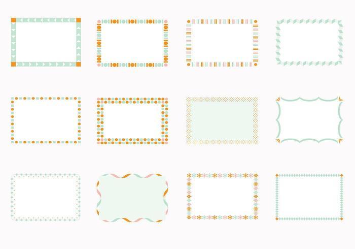 Vetores Funky Square Frames