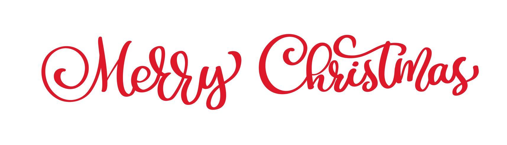 texto feliz Natal mão escrita letras de caligrafia. ilustração vetorial artesanal. Tipografia de tinta pincel divertido para sobreposições de foto, impressão de t-shirt, panfleto, design de cartaz vetor