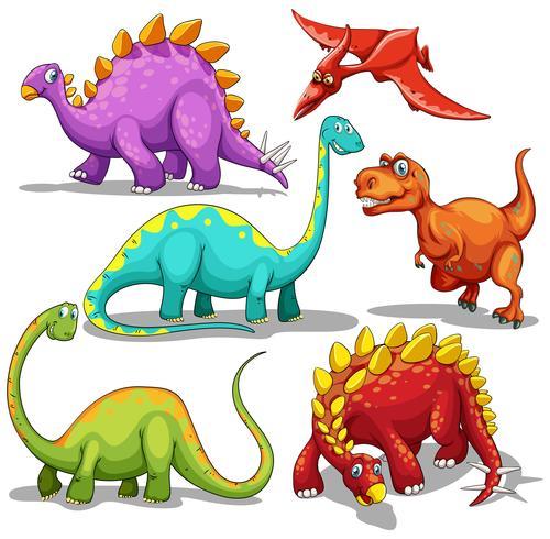 Tipo diferente de dinossauros vetor