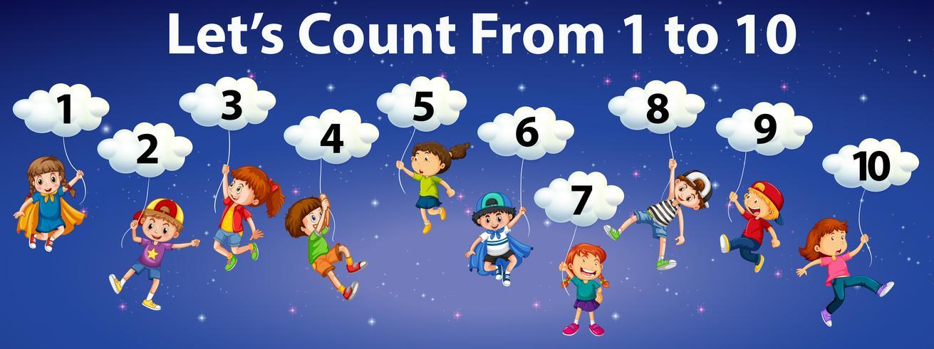 Matemática conta número para 10 vetor