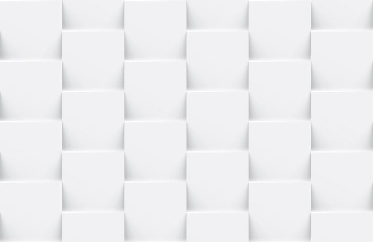 Fundo geométrico abstrato sem costura branco vetor