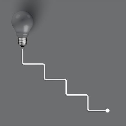 Ilustração de alta realista lâmpada realista, vetor
