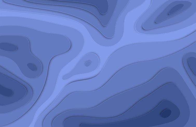 Papel cortado fundo colorido alívio 3D com sombras para publicidade, ilustração vetorial vetor