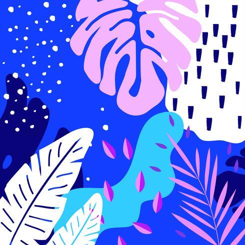 Selva tropical deixa o fundo vetor